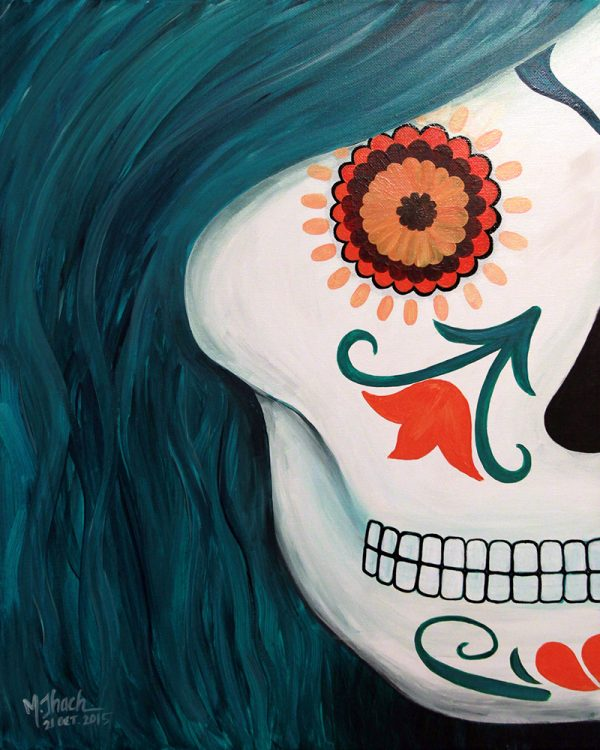 Sugar Skull (left) Paintig