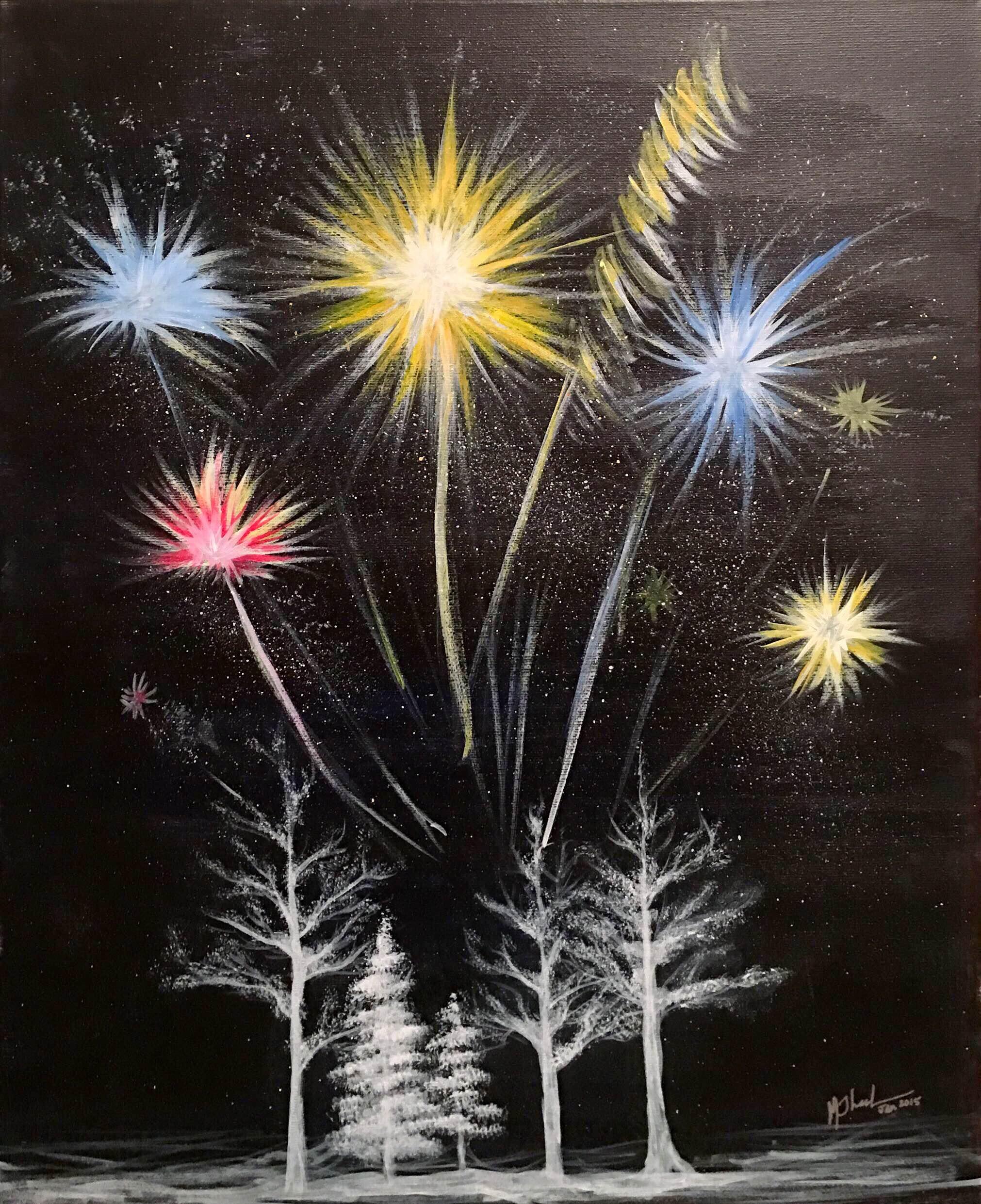 Glowing Fireworks