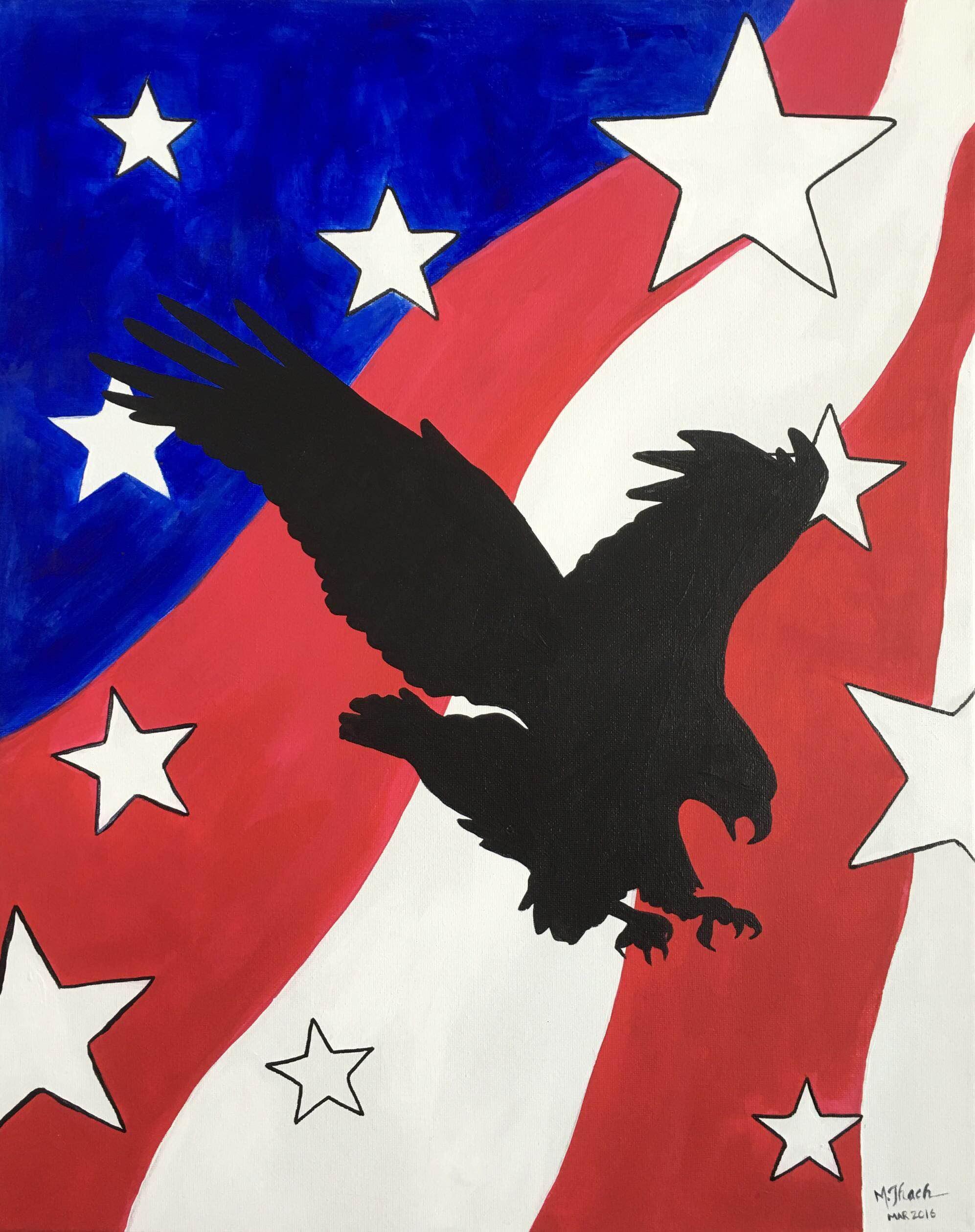 Black Eagle Painting