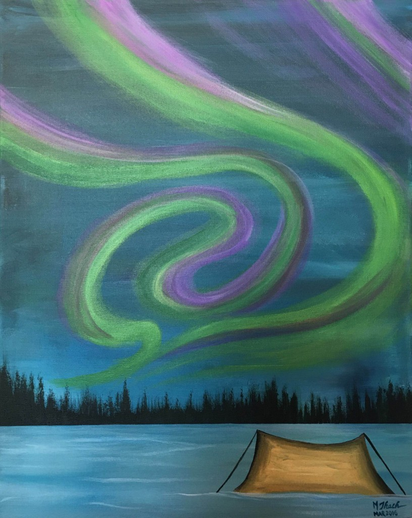 Camping Under Lights Paiting