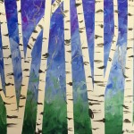 Birch in Spring Painting