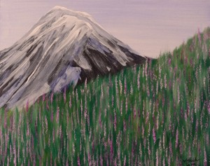 Lupine Landscape Painting